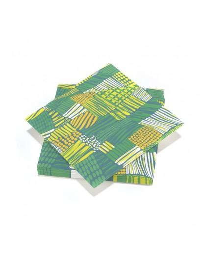 20 serviettes 33x33cm 3 plis Countryside