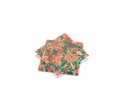 20 serviettes 33x33cm 3 plis Fan Flower
