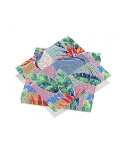 20 serviettes 33x33cm 3 plis Geometrical Shapes