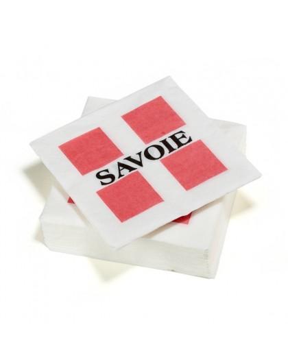 50 Serviettes en ouate 33x33cm 2plis Savoie
