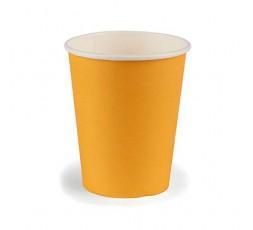 JMG Gobelets en Carton - Couleur Mandarine - Gobelets Jetables Souples et Solides - Format 25 cl - Lot de 12 Gobelets Carton Ora