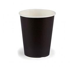 JMG Gobelets en Carton - Couleur Noir - Gobelets Jetables Souples et Solides - Format 25 cl - Lot de 12 Gobelets Carton Noir