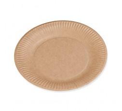 Le Nappage - Grandes Assiettes en Carton Kraft - Assiettes Jetables Biodégradables - Certifiées FSC® - Lot de 50 Assiettes Carto