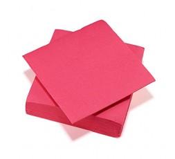Le Nappage - Serviettes Papier Tex Touch - Couleur Fuchsia - Serviettes Certifiées FSC® - Recyclables et Biodégradables - Lot de