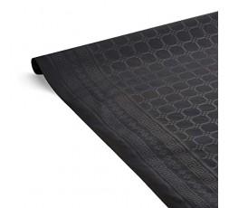 LE NAPPAGE - Nappe de Table en Papier Damassé Noir - Nappe Déperlante - Recyclable et Biodégradable - Nappe Papier Noir en Roule