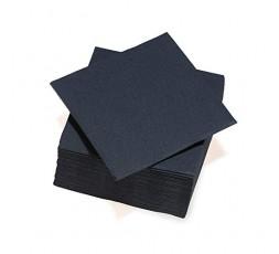 Le Nappage - Serviettes Papier Tex Touch - Couleur Noir - Serviettes Certifiées FSC® - Recyclables et Biodégradables - Lot de 40