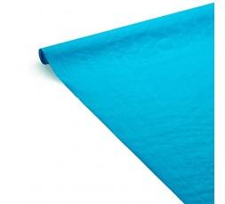 LE NAPPAGE - Nappe de Table en Papier Damassé Bleu Turquoise - Nappe Déperlante - Recyclable et Biodégradable - Nappe Papier Ble