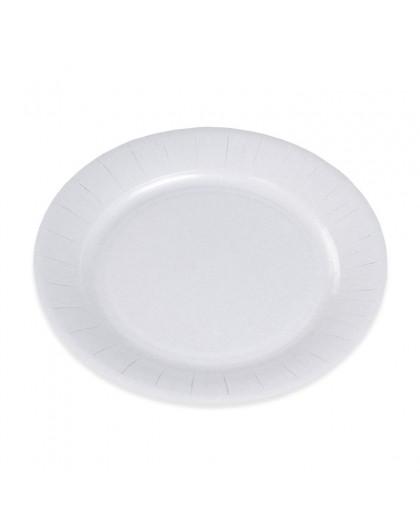 50 Assiettes en carton 23cm Blanc