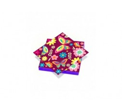 20 serviettes 33x33cm 3 plis Farfalle